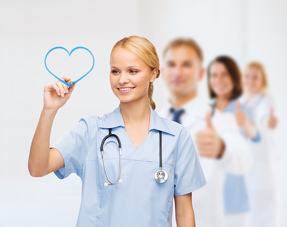 Heart nurse White_ blue 580